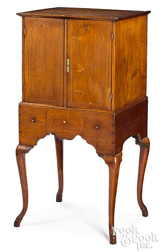Queen Anne mahogany specimen cabinet on stand