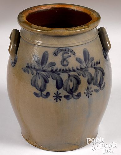 Pennsylvania eight-gallon stoneware crock