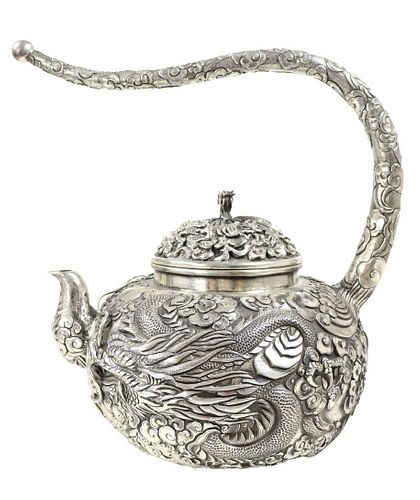 Early Monumental Japanese Sterling Teapot, 59 ozt