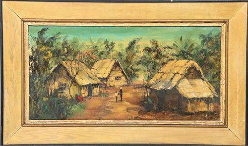 H. Khai ( Early 20th C. ) Vietnam, Oil on Canvas