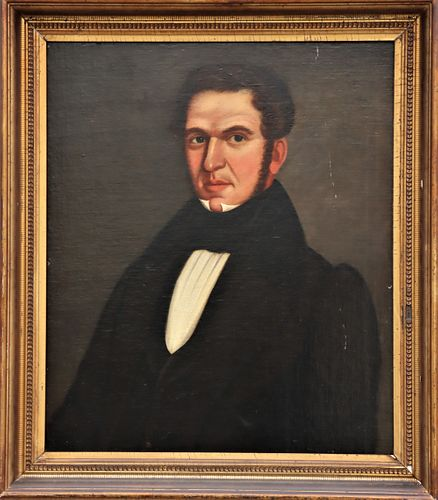 19th C Portrait of a Gentleman, Oil on Canvas