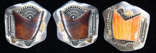 Gold & Silver Brooch & Earrings