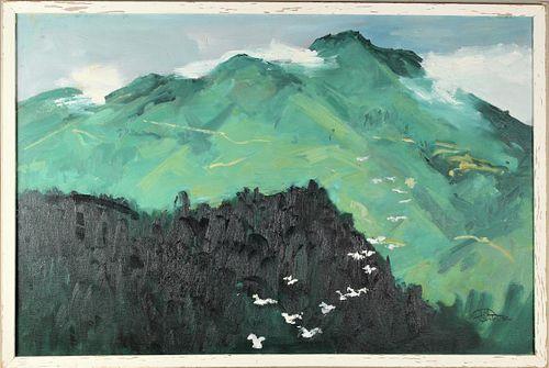 Ted Christensen (1911-1998) American, O/C