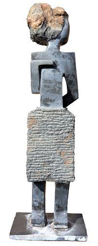 20th C. Shona Stone Figural Sculpture