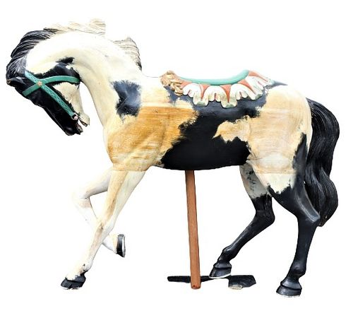Carved Carousel Style Horse, 20th C
