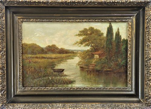19th Century Landscape Oil on Canvas