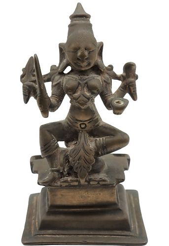 Bronze East Indian Seated Figure