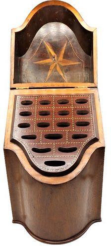 Antique Georgian Knife Box, Inlaid Design