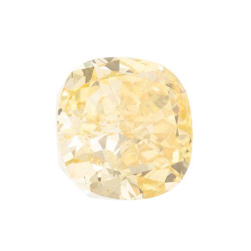 A Loose GIA 2.45 ct Fancy Vivid Yellow Diamond