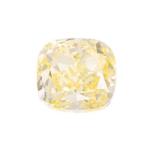 A Loose GIA 3.01 ct Fancy Yellow Diamond