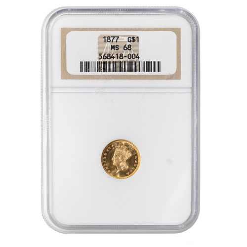 1877 Gold Dollar NGC MS68