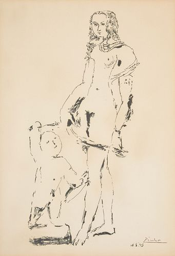 "Pablo Picasso ""Venus & Love"" Lithograph, Signed Ed."