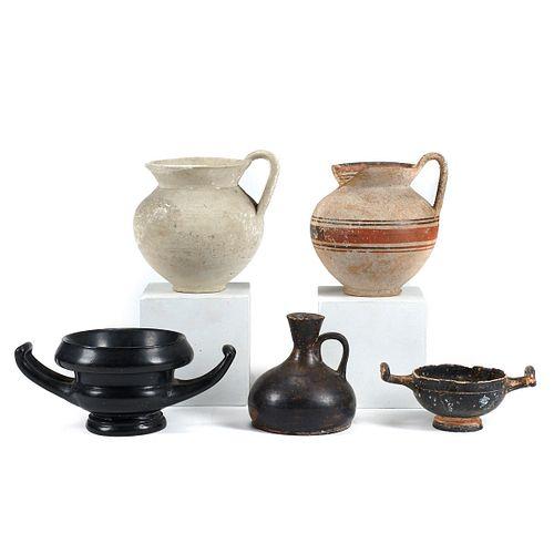 Grp: 5 Roman Ceramic Vessels