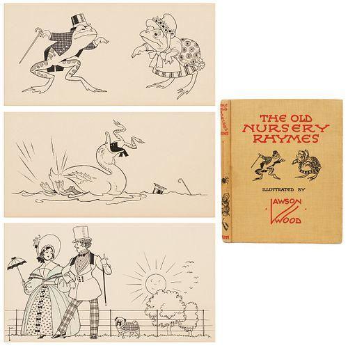 Lawson Wood Pen & Ink Drawings w/ Book