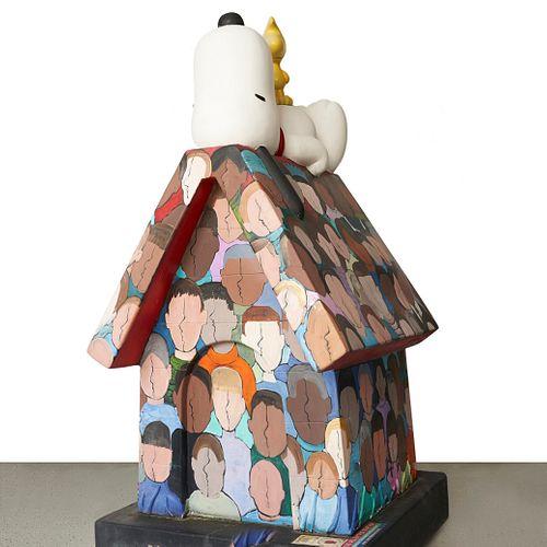 Fiberglass Snoopy House w/ Cement Base