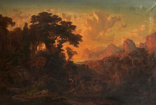 Leopold Stephan Landscape Oil on Canvas