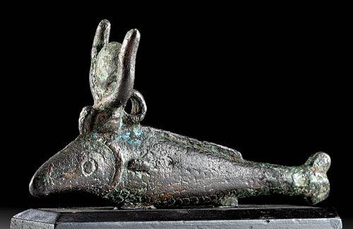 Exhibited Egyptian Bronze Oxyrhynchus Fish