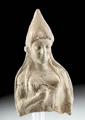 Fine Greek Terracotta Votive Bust of a Goddess