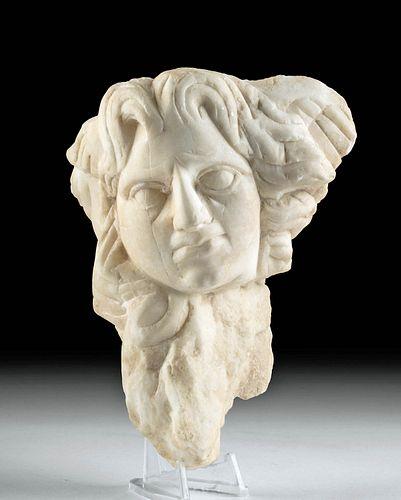 Roman Marble Sarcophagus Fragment - Somnos