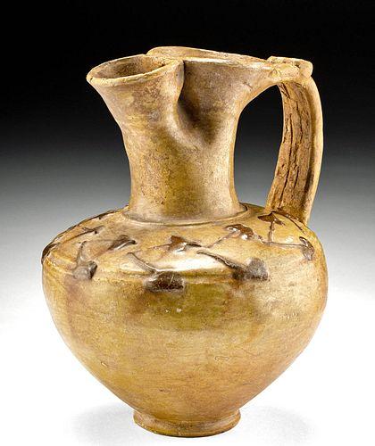Roman Lead-Glazed Pottery Oinochoe TL Tested