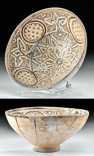 Published 14th C. Il-Khanid Pottery Bowl, ex-Christie's