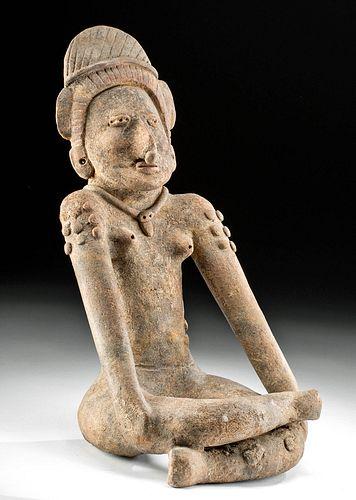Impressive Huastec Pottery Seated Female Figure
