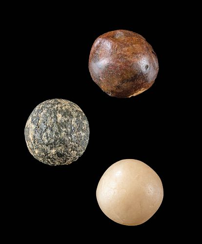 Neolithic North African Stone Spheres - Lot of 3