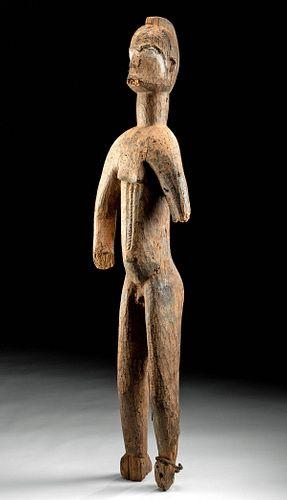 Early 20th C. African Igbo Wood Alusi Deity Figure