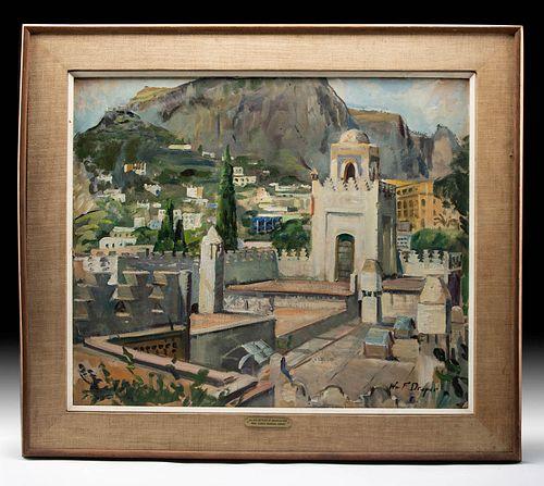 Award Winning Draper Painting - Capri, Italy - 1966