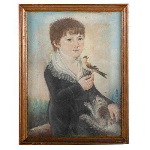 Frederick Kemmelmeyer. Portrait of a Boy, pastel