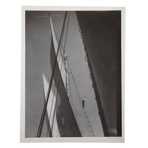 "A. Aubrey Bodine. ""Sailing,"" photograph"