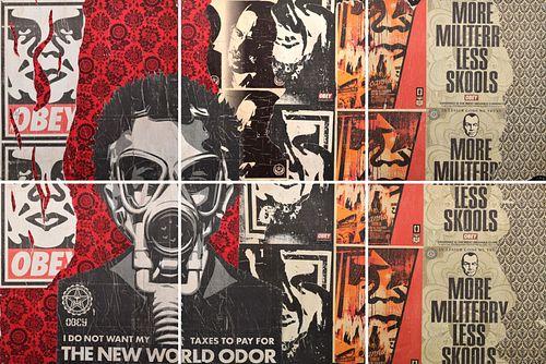 "Shepard Fairey OBEY Mural, Covert Skate Shop, 144""W"