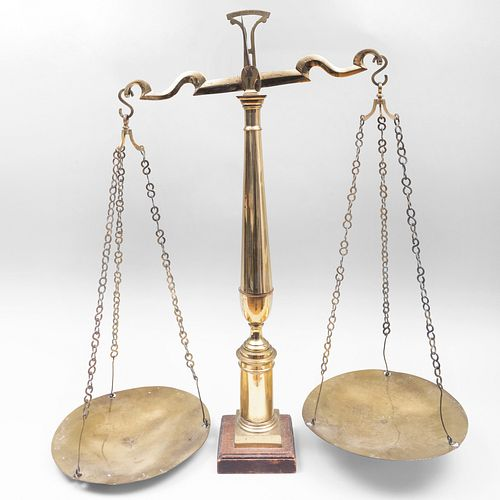Large English Brass Scale, 19th Century