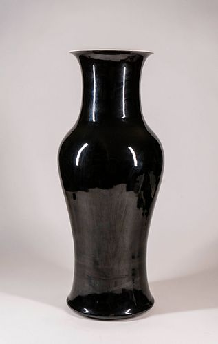 Large Black-Glazed Baluster Vase w/ Kangxi 6-Character Mark and of the Period Ex. Christie's