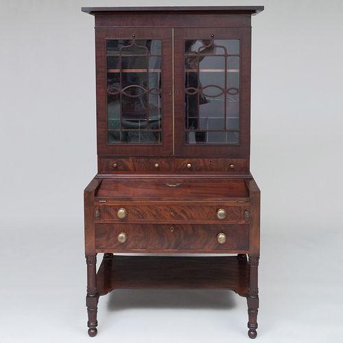 Federal Mahogany Secretary Bookcase