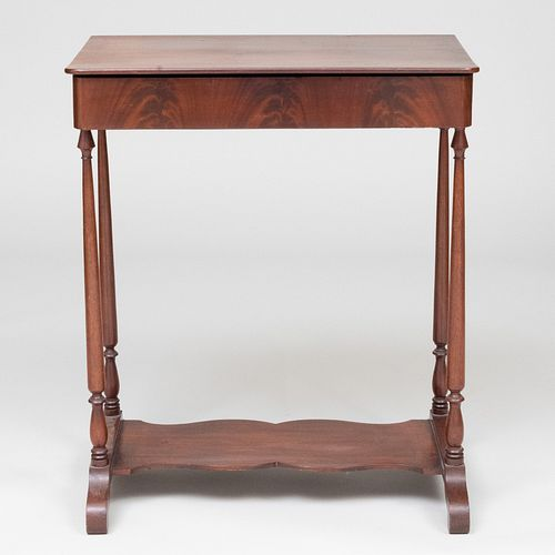 Late Federal Mahogany Side Table