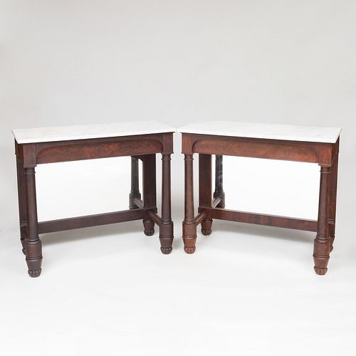 Pair of Federal Mahogany Pier Tables