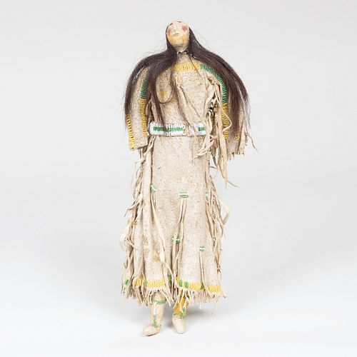 Ute Plains Beaded and Hide Doll, probably Pine River Region