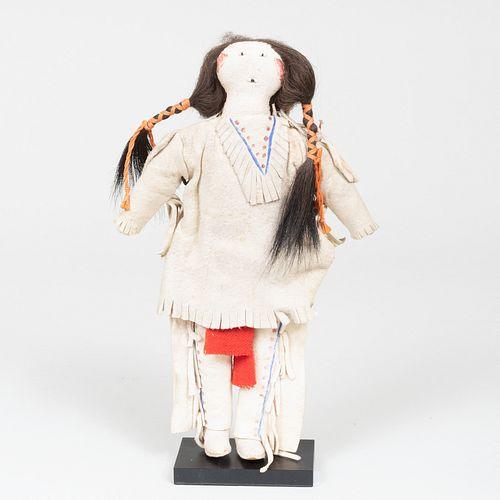Cheyanne or Arapaho Plains Hide Doll, Probably Canadian River Region