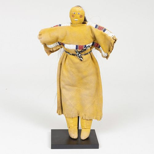 Sioux Plains Beaded and Hide Doll, Probably White River, South Dakota