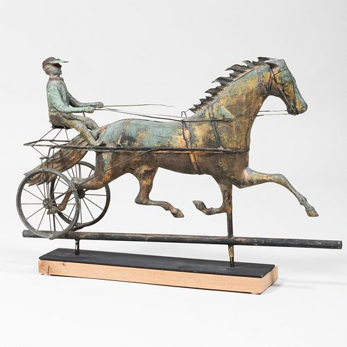 American Weathervane Horse and Sulky