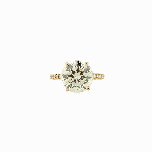 GIA 7.09ct Round Brilliant H/SI2 Engagement Ring