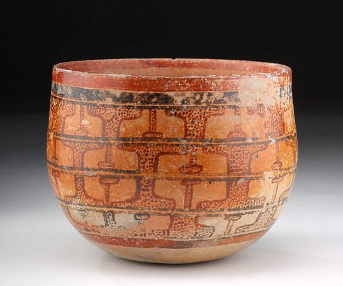 Maya Peten Polychrome Pottery Bowl