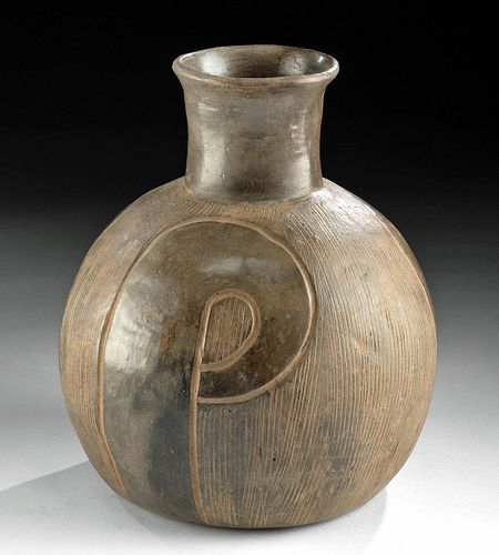 Chavin Pottery Jar with Incised Designs