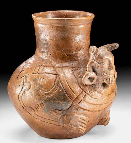 Maya Plumbate Rattle Jar w/ Human Head