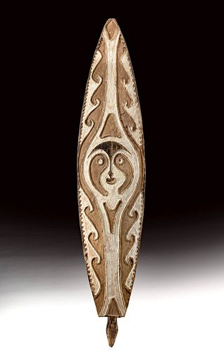 Mid-20th C. Papua New Guinea Wooden Gope Board