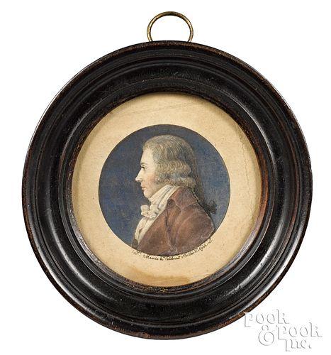 Two St. Memin engraved profile portraits