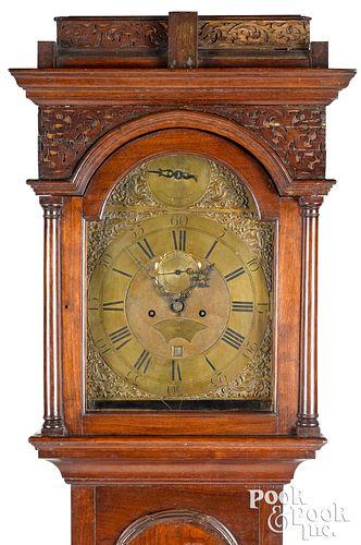 Pennsylvania William and mary tall case clock