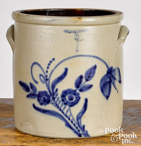 New York three-gallon stoneware crock, 19th c.