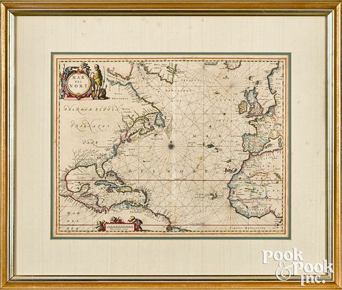 Jan Jansson engraved map Mar Del Nort